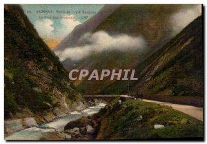 Old Postcard Gavarnie Luz Road has gavarnie Bridge of Douroucat
