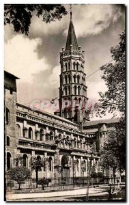 Toulouse Old Postcard Tower of the Basilica of St. Sernin and door Miegeville