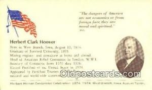 Herbert Hoover 31st USA President Postcard Postcards