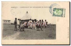 Old Postcard Cote des Somalis Djibouti Camp travelers Issas countries