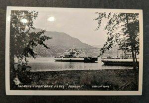 Mint Vintage Kelawna Westbank Ferry Pendozi British Columbia Canada RPPC