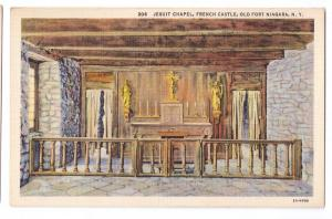 Old Fort Niagara Jesuit Chapel French Castle NY Postcard