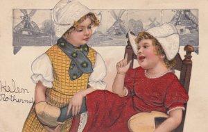 2 Dutch girls #5 , 1907 ; PFB 6523