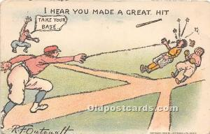 Old Vintage Baseball Postcard Post Card I hear you made a great hit, Artist R...