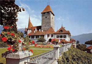 Switzerland Schloss Spiez am Thunersee The Castle of Spiez Lake of Thun