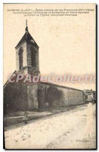 Postcard Puymirol Old Church Destroyed by Protestants