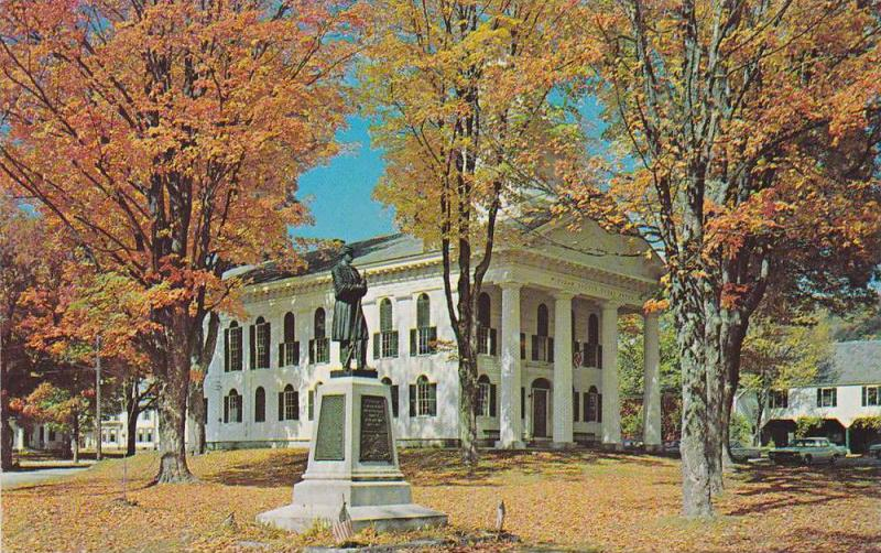 Small neat country township, Windham County Court House, Newfane, Vermont, 40...