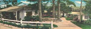 1940s Santa Barbara California Rancheria Motor Hotel Fold-out John Langhorne