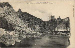 CPA Ruines sur la Cedelle a CROZANT (121780)