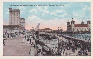 New Jersey Atlantic City Boardwalk And Beach Scene Near Garden Pier