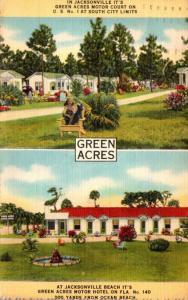 Florida Jacksonville Green Acres Motor Court 1942