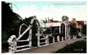 Florida  St.Petersburg , The Shell Fence