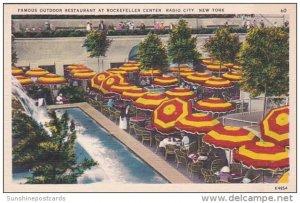 Famous Outdoor Restaurant At Rockefeller Center Radio City New York City