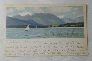 Art German American Novelty Series 531 Postcard Old Vintage Card Printed Germany