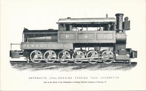 RPPC Anthracide Coal-Burning Pushing Tank Locomotive - Railroad