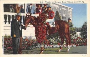 Whirlaway, Kentucky Derby Winner Louisville, Kentucky, KY, USA Unused
