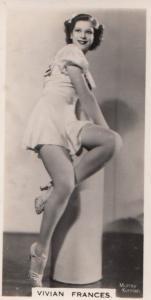 Vivian Frances Hollywood Actress Rare Real Photo Cigarette Card