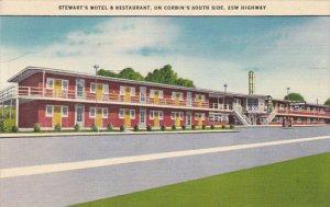 Kentucky Corbin Stewart's Motel and Restaurant 1955