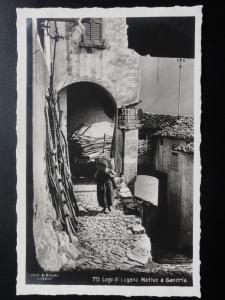 Switzerland: LAGO DI LUGANO MOTIVO A GRANDRIA - Old Real Photograph Postcard