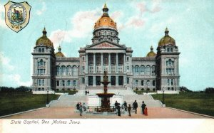 Des Moines, Iowa, IA, State Capitol, Undivided Back Vintage Postcard g8299