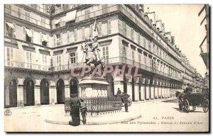 Old Postcard Paris Street of Joan of Arc statue Pyramids