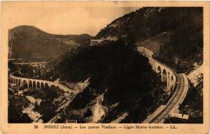 CPA MOREZ Les Quatre Viaducs Ligne MOREZ ANDELOT (447075)