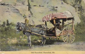 Missouri Hannibal Old Hannibal With His Donkey and Cart