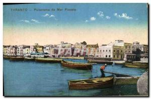 Old Postcard Panorama da Taranto Mar Piccolo