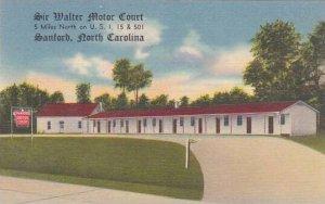 North Carolina Sanford Sir Walter Motor Court Albertype