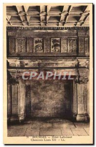 Postcard Old Hotel Lallemant Bourges Fireplace Louis XII