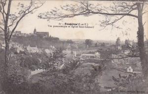 Fraance Fougeres Vue Panoramique et Eglise Saint-Leonard 1931