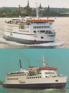MR Romso Halsskov to Knudshoved Scandanavian Ferry Postcard