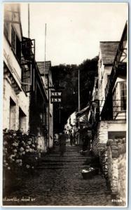 RPPC  CLOVELLY, Devon  England  UK   HIGH STREET Scene   Postcard