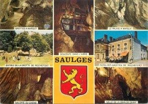 France souvenir Postcard Saulges(Mayenne) different aspects&sites crest heraldry