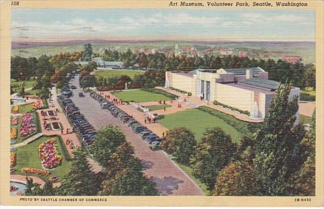 Washington Seattle Art Museum Volunteer Park 1944 Curteich