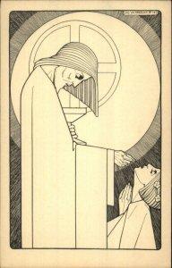Art Deco Catholic Religious Communion Jos. Speybrouck 1928 Postcard