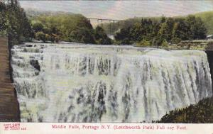 Middle Falls, Letchworth Park, Fall 107 Feet, PORTAGE, New York, 00-10s