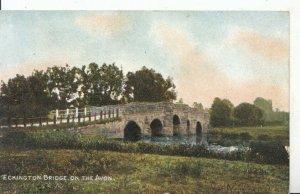 Worcestershire Postcard - Eckington Bridge On The Avon - Ref 6840A