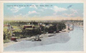 Near TULSA, Oklahoma, 1910-1930s; Cameron River Scene In Oil Fields