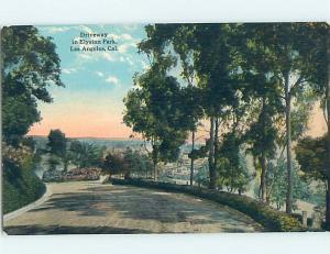 Unused Divided-Back PARK SCENE Los Angeles California CA hk8833