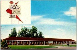 Pittsburg, Kansas Postcard VEL-FRE MOTEL Highway 69 Roadside 1950s Chrome Unused