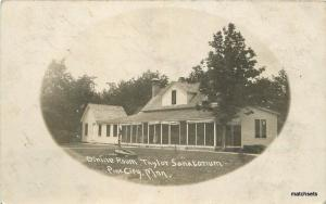 1909 PINE CITY Minnesota Taylor Sanitarium Frame Border RPPC postcard 1005