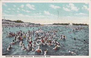 Minnesota Minneapolis Bathing Beach Lake Calhoun 1926