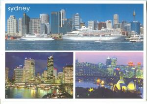 Australia, Sydney, multi view, used Postcard