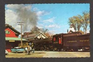 VT Canadian Pacific Railroad Train CHESTER VERMONT PC