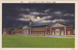High School At Night Bristol Tennessee