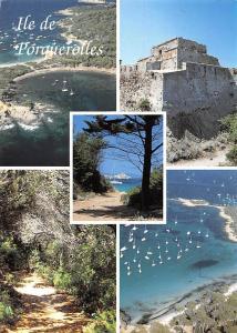 France Souvenir de l'Ile de Porquerolles Bateaux Boats Panorama