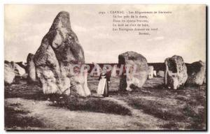 Old Postcard Dolmen Menhir Carnac Kermario