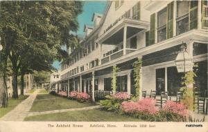 Ashfield Massachusetts House Corbett Albertype hand colored postcard 10110