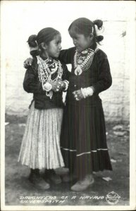 Navajo Girls Children of Silversmith Frasher's Real Photo Postcard